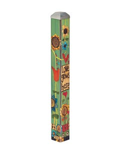 "Love Grows Here 16"" Mini Art Pole"