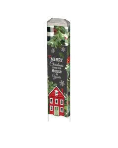 "Homespun Family Christmas 13"" Mini Art Pole"
