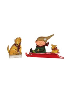 Elf on Sled and Dog S/2 asst.