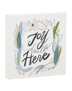 Joy Dwells Here Canvas Wall Art