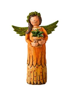 "Gift of a Garden 8"" Angel Figurine"