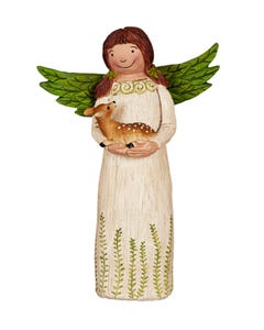 "Lovely Nature 8"" Angel Figurine"