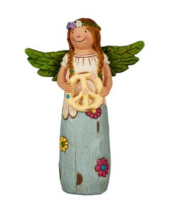 "Peace and Happiness 8"" Angel Figurine"